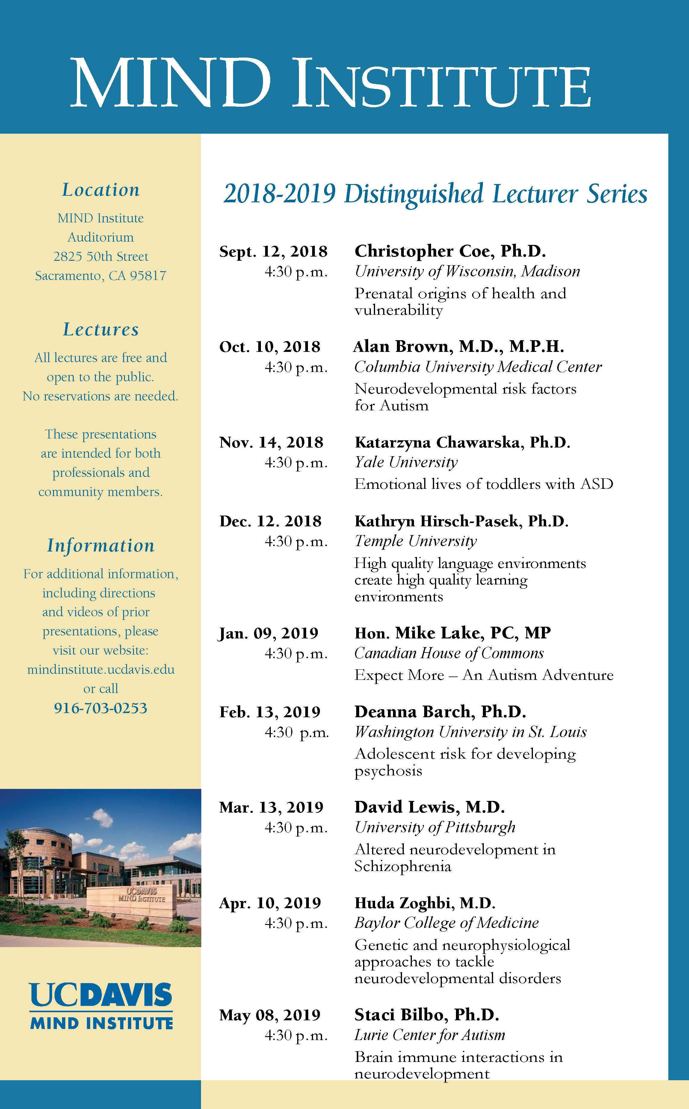 MIND Distinguished Lecture Series